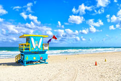 Lifeguard house on beach Royalty Free Stock Photo