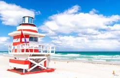 Lifeguard house in Miami beach Royalty Free Stock Photos