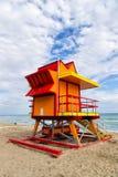 Lifeguard house in Miami Beach Stock Photo