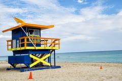 Lifeguard house in Miami Stock Photos
