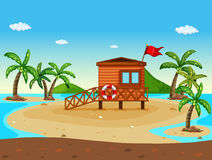 Free Lifeguard House On The Beach Stock Photo - 93688840
