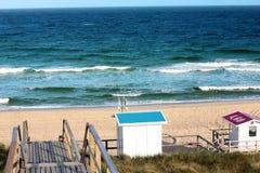 Lifeguard house on a sandy beach on sylt Island Royalty Free Stock Photo