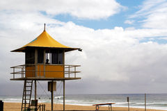 Lifeguard hut. Overlooking surf Royalty Free Stock Image