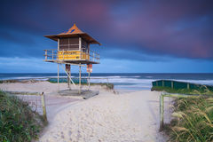 Lifeguard hut on australian beach Stock Image