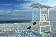Lifeguard Hut on Beach Stock Photography