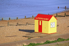 Lifeguard hut on beach Royalty Free Stock Photo