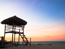 Lifeguard hut. Of Cumbuco beach - Ceara - Fortaleza - Brazil Stock Photos