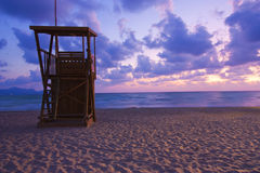 Lifeguard hut at dawn Royalty Free Stock Image