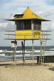 Lifeguard hut. Gold Coast Australia Royalty Free Stock Photo
