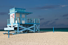 Lifeguard hut on Haulover Park Beach in Florida Royalty Free Stock Photo