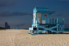 Lifeguard hut on Haulover Park Beach in Florida Stock Photos
