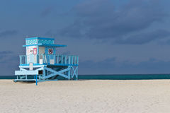 Lifeguard hut on Haulover Park Beach in Florida Royalty Free Stock Image