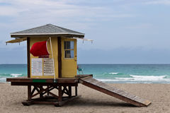 Lifeguard hut on Hollywood Beach in Florida Royalty Free Stock Image