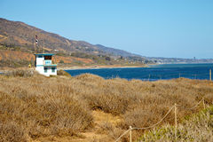 Lifeguard hut on the Malibu beach. California Royalty Free Stock Photos