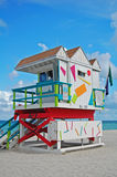 Lifeguard hut in Miami Stock Photography