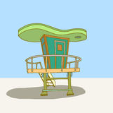 Lifeguard hut Stock Photography