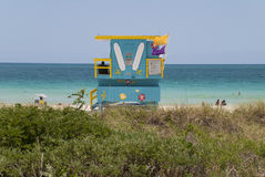 Lifeguard hut Miami Stock Images