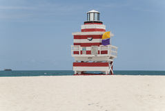 Lifeguard hut Miami Royalty Free Stock Images