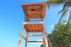 Lifeguard hut on pillars phuket thailand Stock Photography
