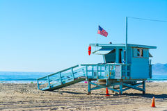 Lifeguard hut in Santa Monica Stock Photos