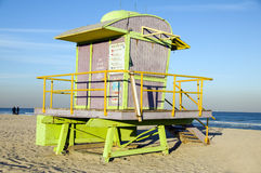 Lifeguard hut South Beach Miami Florida Stock Images