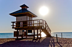 Lifeguard hut in Sunny Isles Beach, Florida Stock Image