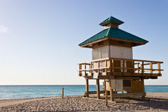 Lifeguard hut in Sunny Isles Beach, Florida Royalty Free Stock Images