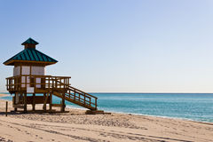 Lifeguard hut in Sunny Isles Beach, Florida Royalty Free Stock Image