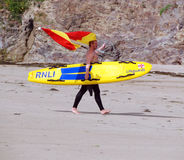 Lifeguard na praia Imagens de Stock