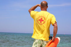 Lifeguard no dever Imagem de Stock Royalty Free