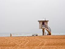 Lifeguard observation tower Stock Image