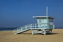 Lifeguard observation tower station Santa Monica Stock Image