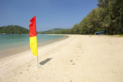 Lifeguard patrol area on beach Royalty Free Stock Photo
