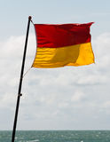 Lifeguard patrolled area flag Royalty Free Stock Photography