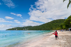 Lifeguard patrolling the Magens Bay beach Royalty Free Stock Images