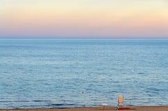Lifeguard post at the Black Sea shore from Albena, Bulgaria Royalty Free Stock Image
