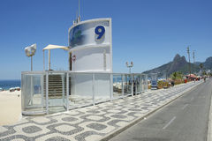 Lifeguard Posto Nove 9 Ipanema Beach Rio Brazil Royalty Free Stock Image
