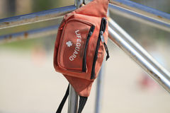 Lifeguard pouch Stock Photo