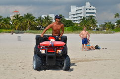 lifeguard on the quad, miami beach Royalty Free Stock Photography