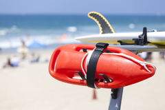 Lifeguard red buoy on a beach. Royalty Free Stock Images