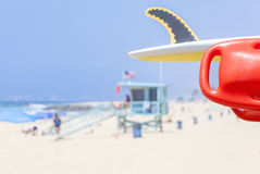 Lifeguard red buoy on a beach. Stock Images