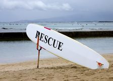 Lifeguard rescue board stock photo