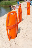 Lifeguard rescue equipment Stock Image