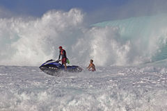 Lifeguard Rescue. Event:  High Surf Warning 20.XII.13 Royalty Free Stock Photo