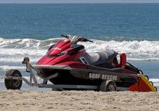 A Lifeguard Rescue Personal Watercraft (PWC) Stock Image