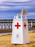 Lifeguard Rescue stand chair at Walnut Beach stock photography