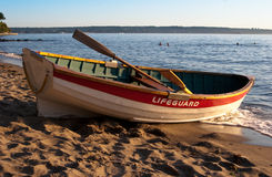 Lifeguard rowboat Royalty Free Stock Photography
