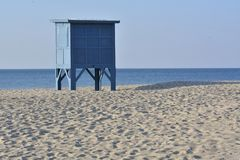 Ifeguard`s booth on the beach Royalty Free Stock Photography