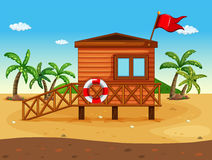 A lifeguard's house Royalty Free Stock Images