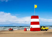 Lifeguard's watch. Lifeguards are placed allover the westcoast in Denmark to prevent drowning people Stock Images
